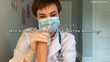 Med Student Researches Curative Handjobs Preview