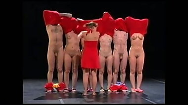 NOS nude stage group in red
