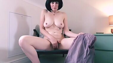 Lacey-Lou Martin: Business woman  strips for you & masturbates pussy with her blazer